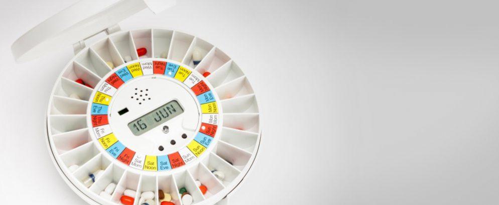 Pivotell pill dispensers